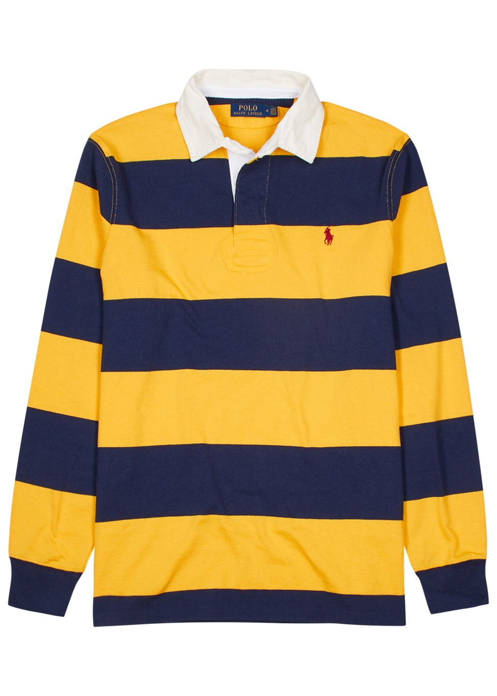 Striped cotton rugby shirt - Polo Ralph Lauren