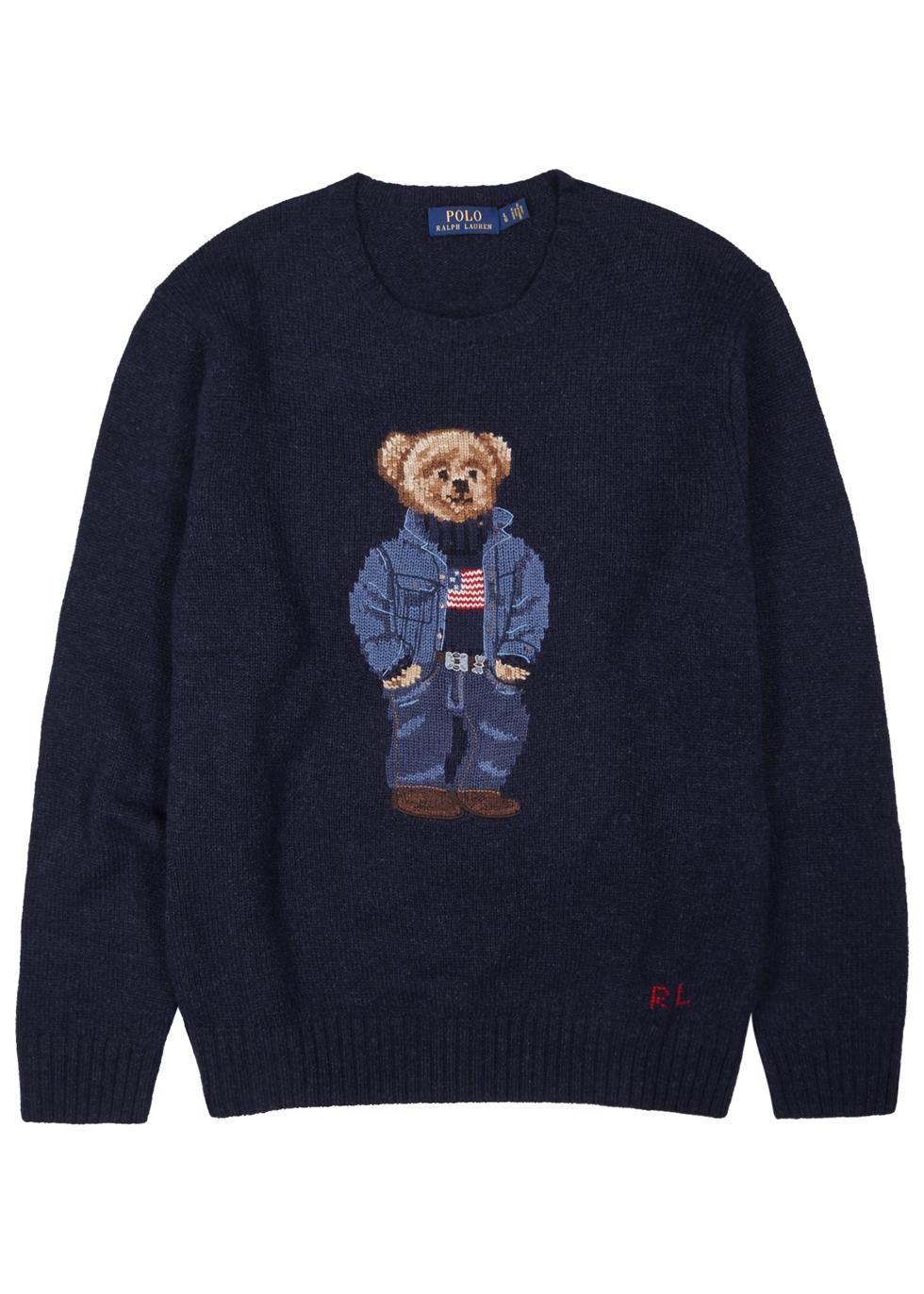 Navy bear-intarsia wool jumper Navy bear-intarsia wool jumper. Polo Ralph  Lauren. Navy bear-intarsia wool jumper