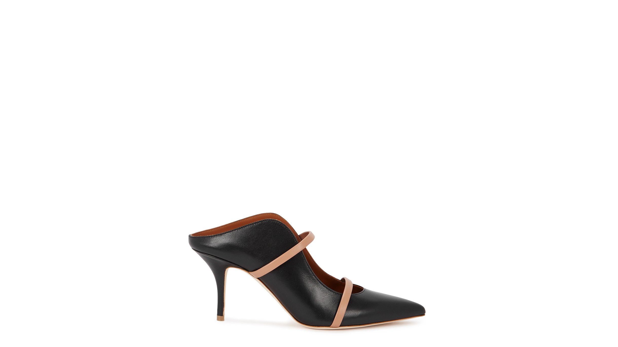 00fcaaa609a8 Malone Souliers Maureen 70 black leather mules - Harvey Nichols