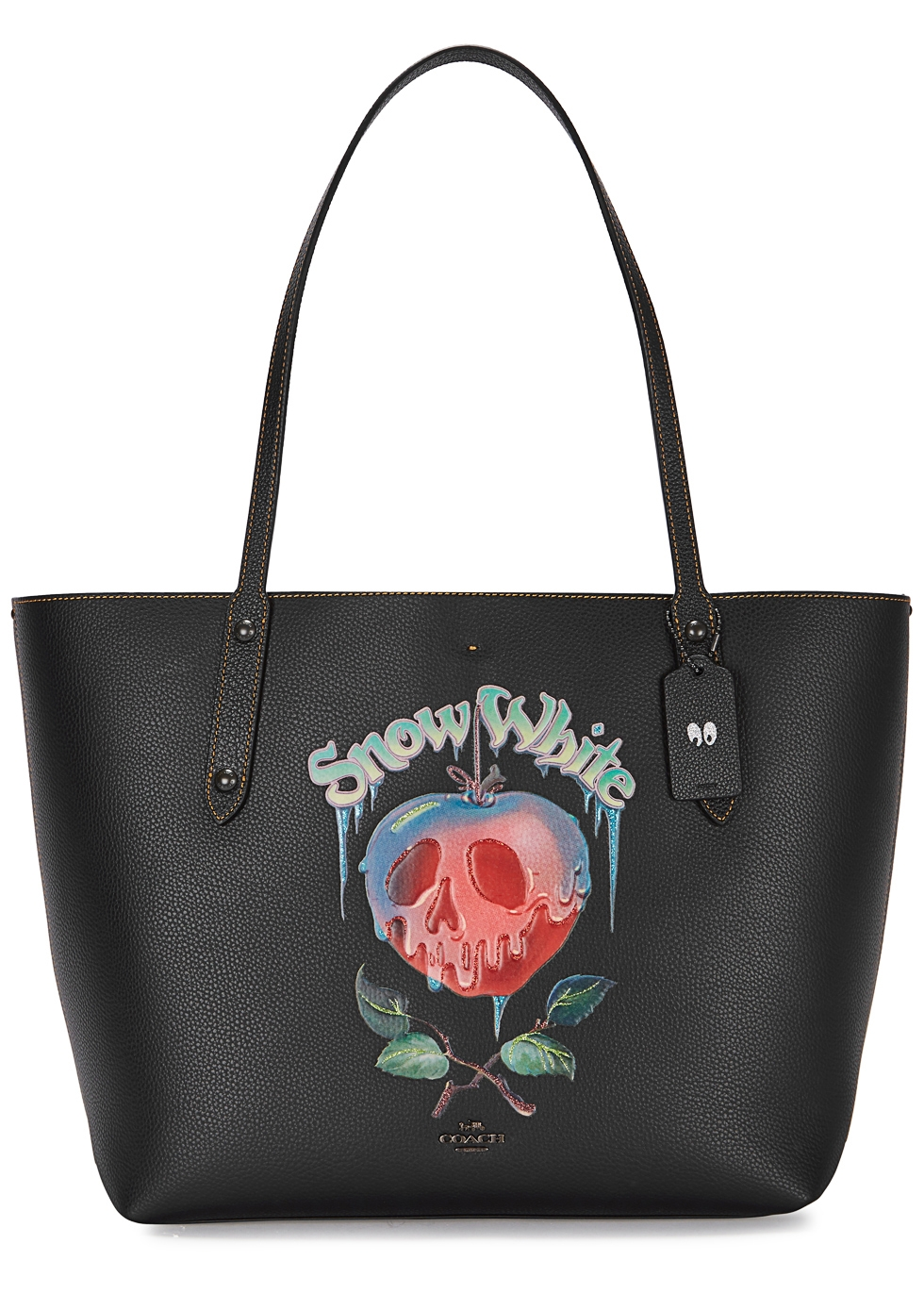 DARK DISNEY POISON APPLE LEATHER TOTE
