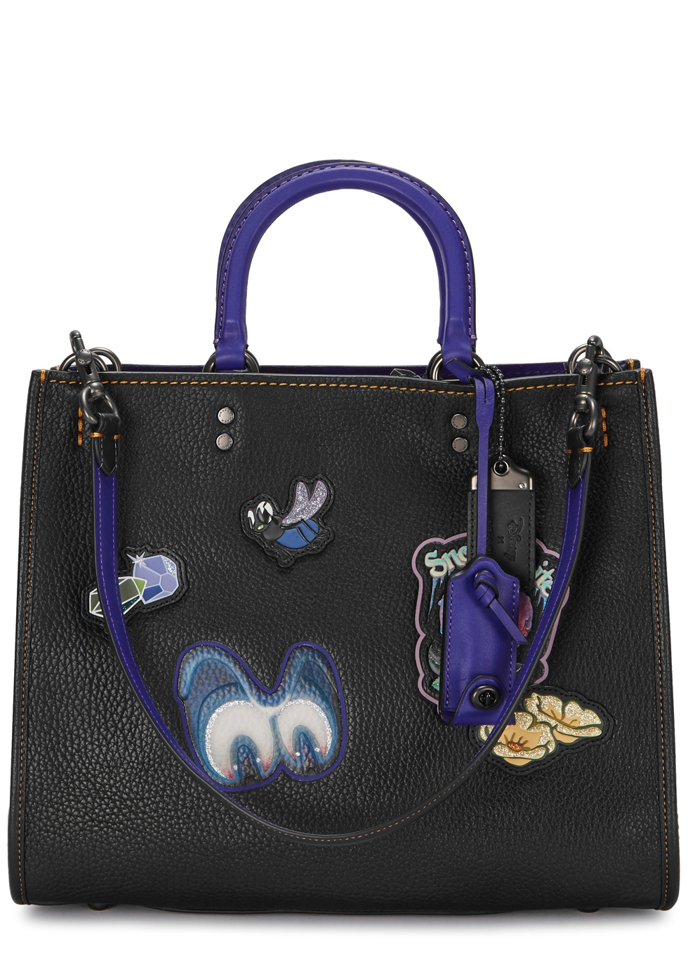 X DISNEY ROGUE BLACK LEATHER TOTE