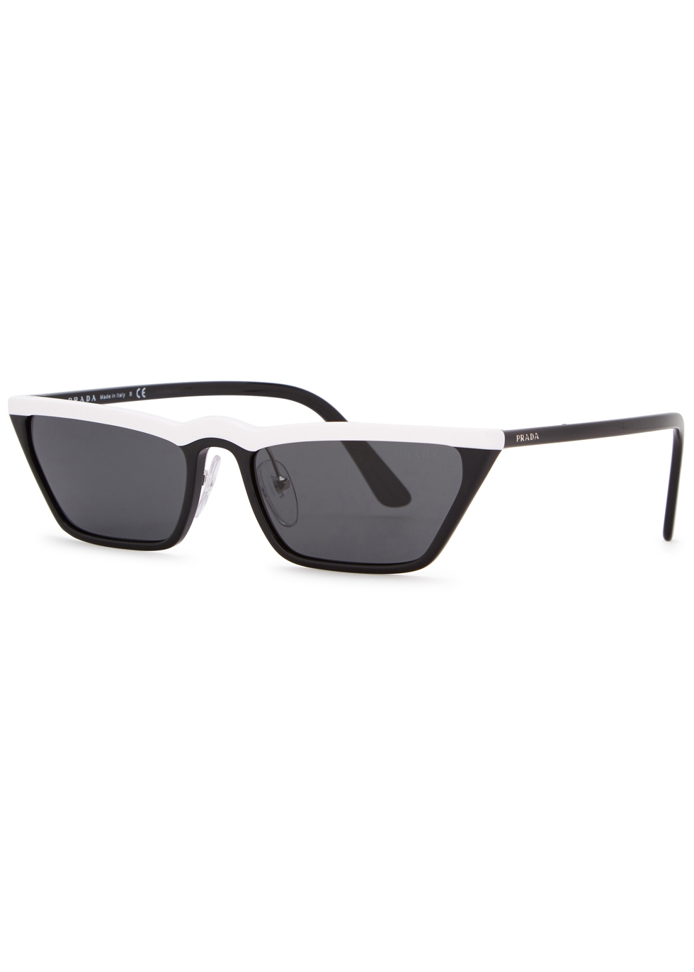 MONOCHROME CAT-EYE SUNGLASSES