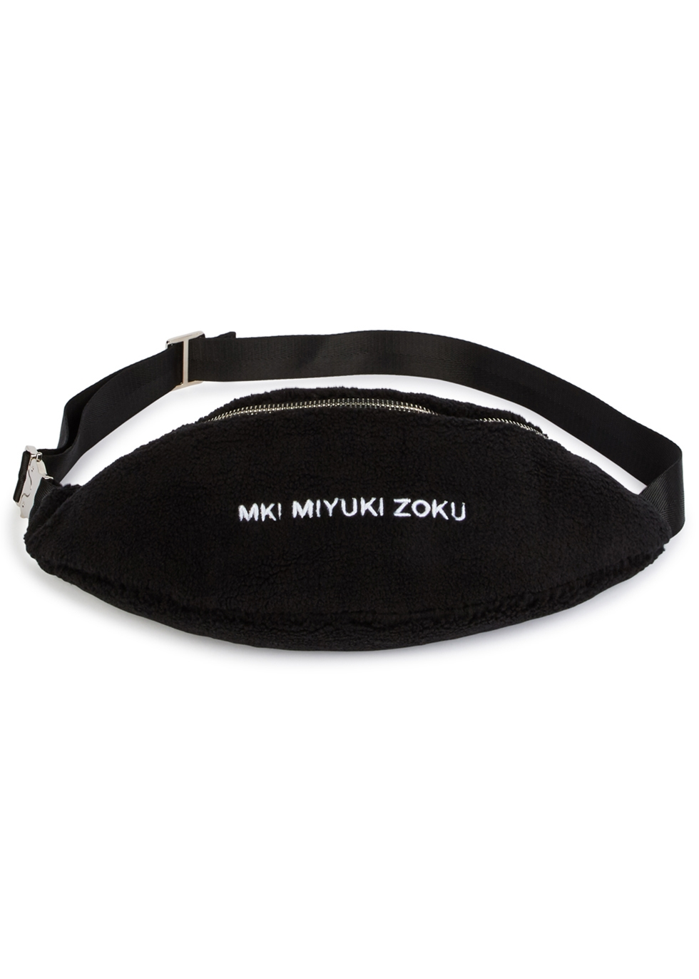 MKI MIYUKI ZOKU BLACK FLEECE BELT BAG