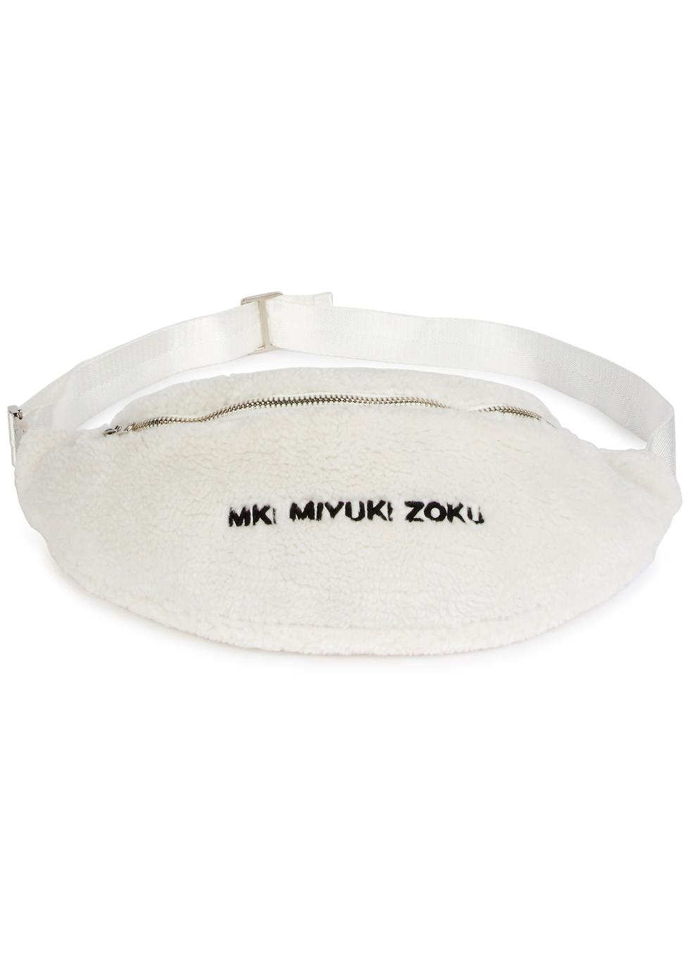MKI MIYUKI ZOKU WHITE FLEECE BELT BAG