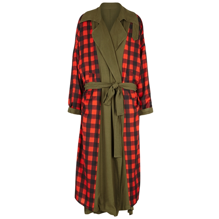 Preen By Thornton Bregazzi LANA CHECKED REVERSIBLE TWILL COAT