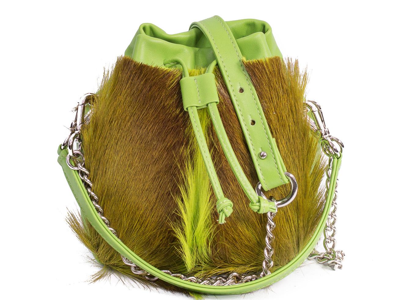 SHERENE MELINDA Lime Lou Lou Pouch Bag With A Fan