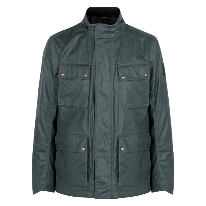 04aefa4546f BELSTAFF EXPLORER COATED COTTON JACKET, BLUE | ModeSens