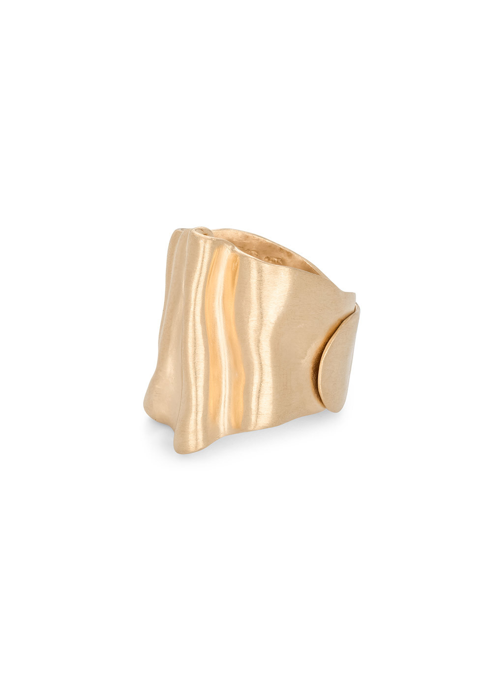 BJ0RG JEWELLERY THE BIOMORPH GOLD RING SIZE 60