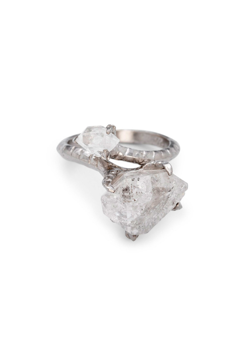 BJ0RG JEWELLERY HERKIMER CLAW RING SIZE L