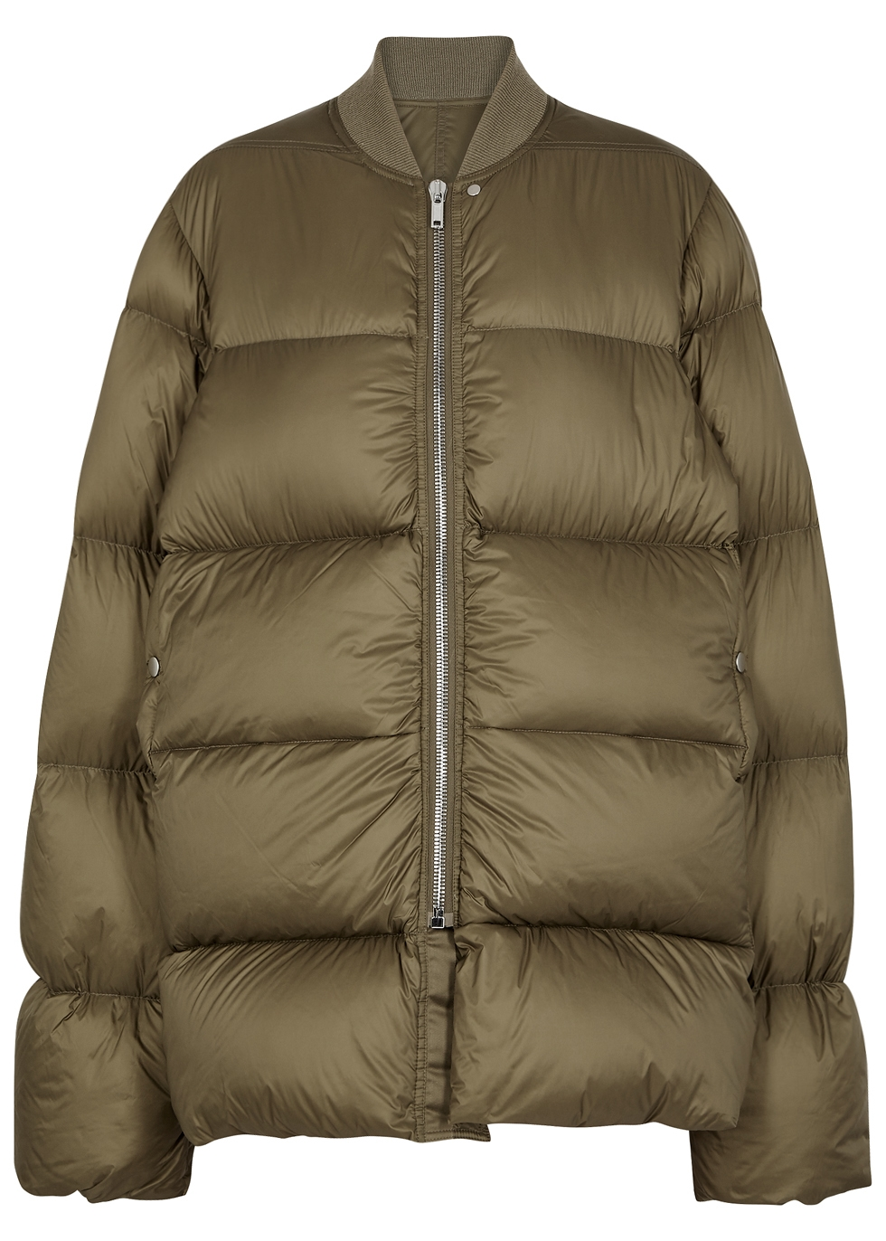 FLIGHT OLIVE QUILTED SHELL COAT