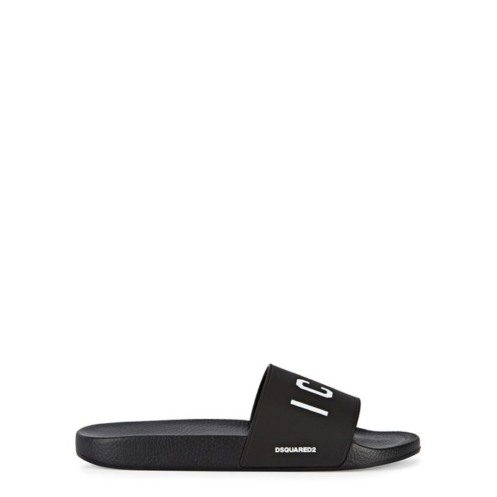 DSQUARED2 Icon Black Rubber Sliders