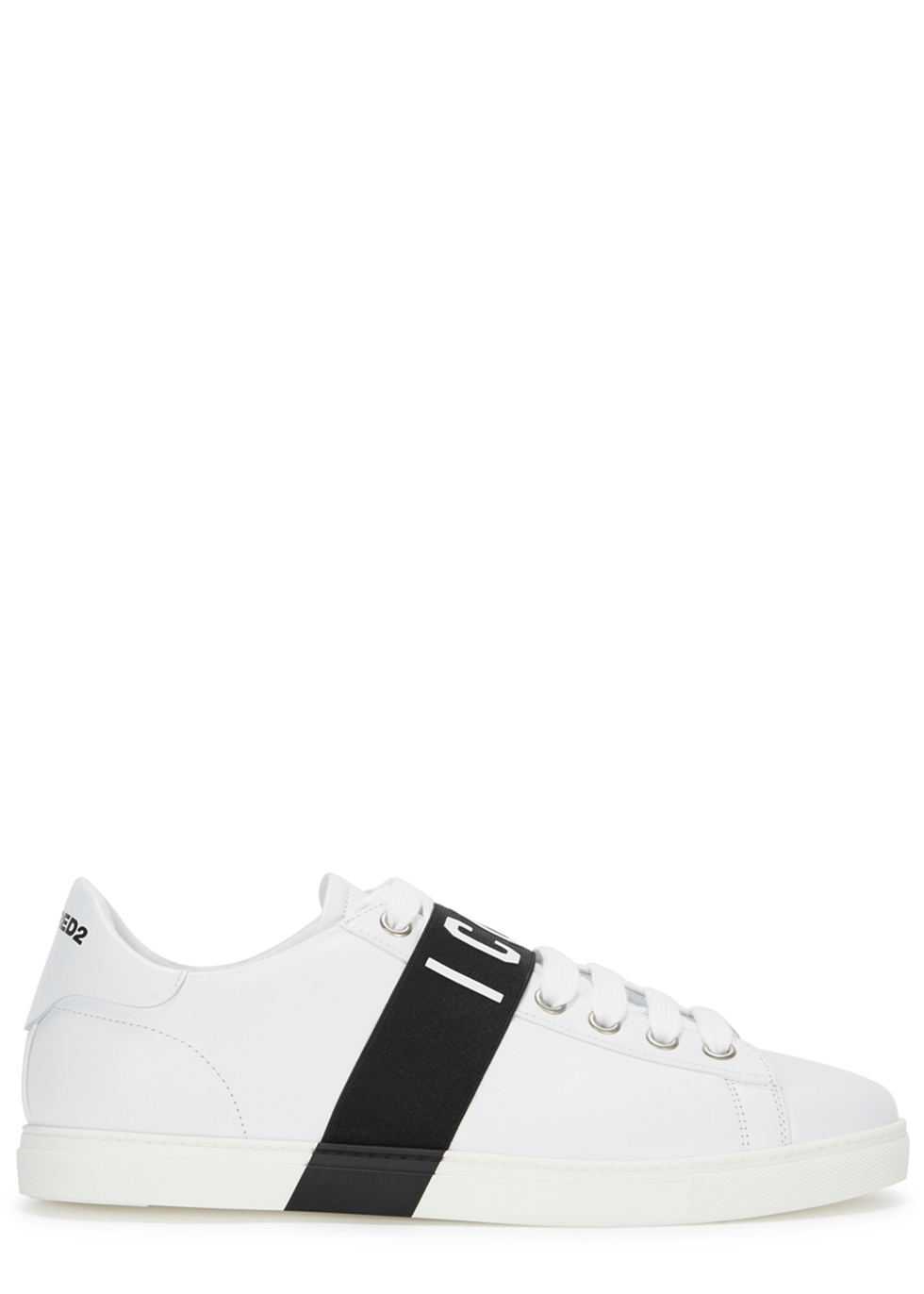 DSQUARED2 ICON WHITE LEATHER TRAINERS