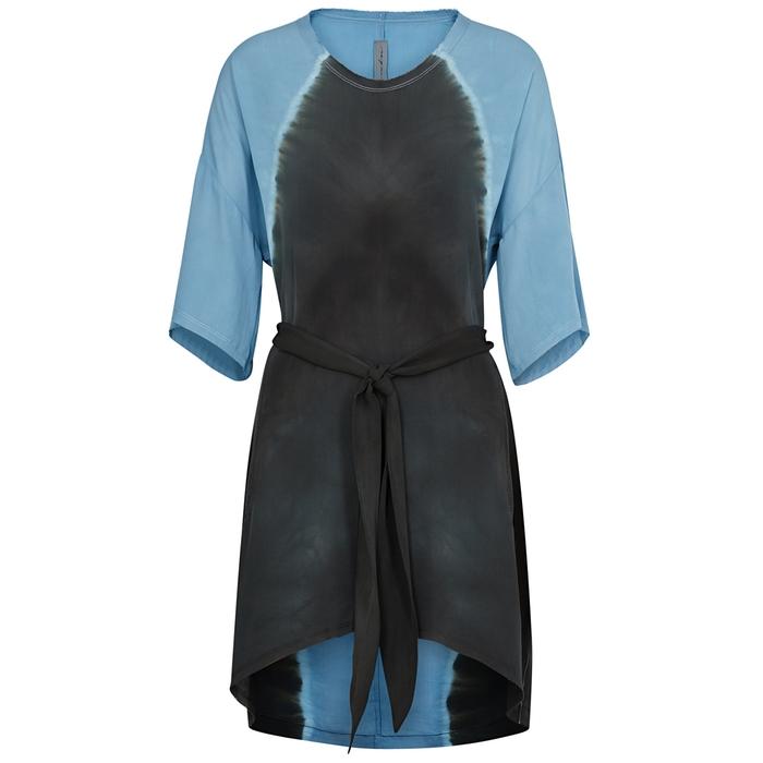 Raquel Allegra BLUE TIE-DYE SILK DRESS