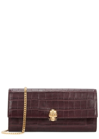 Continental Crocodile Effect Leather Wallet
