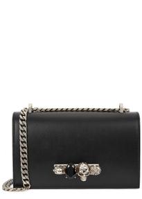 Jewelled Satchel Leather Shoulder Bag