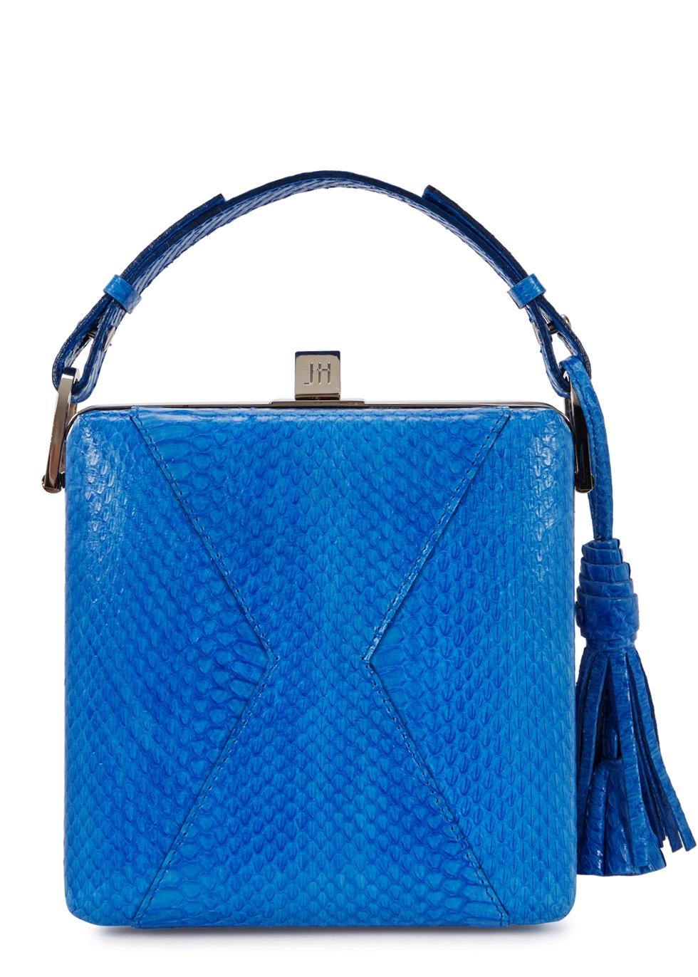 JILL HABER CHARLES BLUE ELAPHE BOX BAG