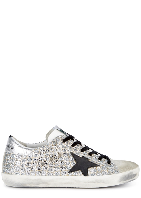 196375765 Golden Goose Deluxe Brand Superstar glittered leather trainers ...