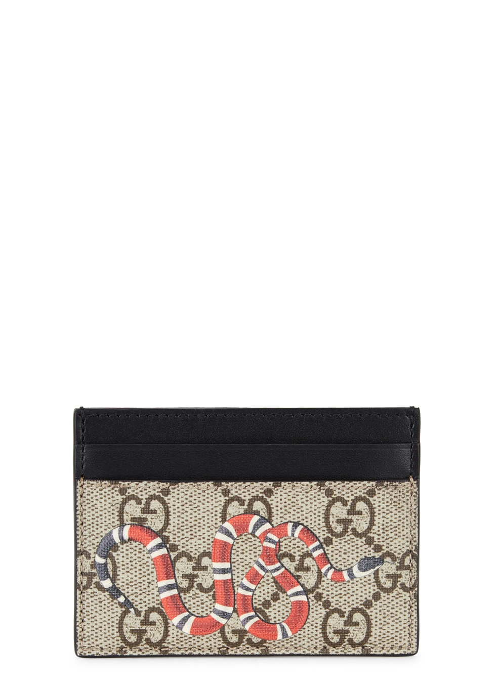 GUCCI GG SUPREME KINGSNAKE CARD HOLDER