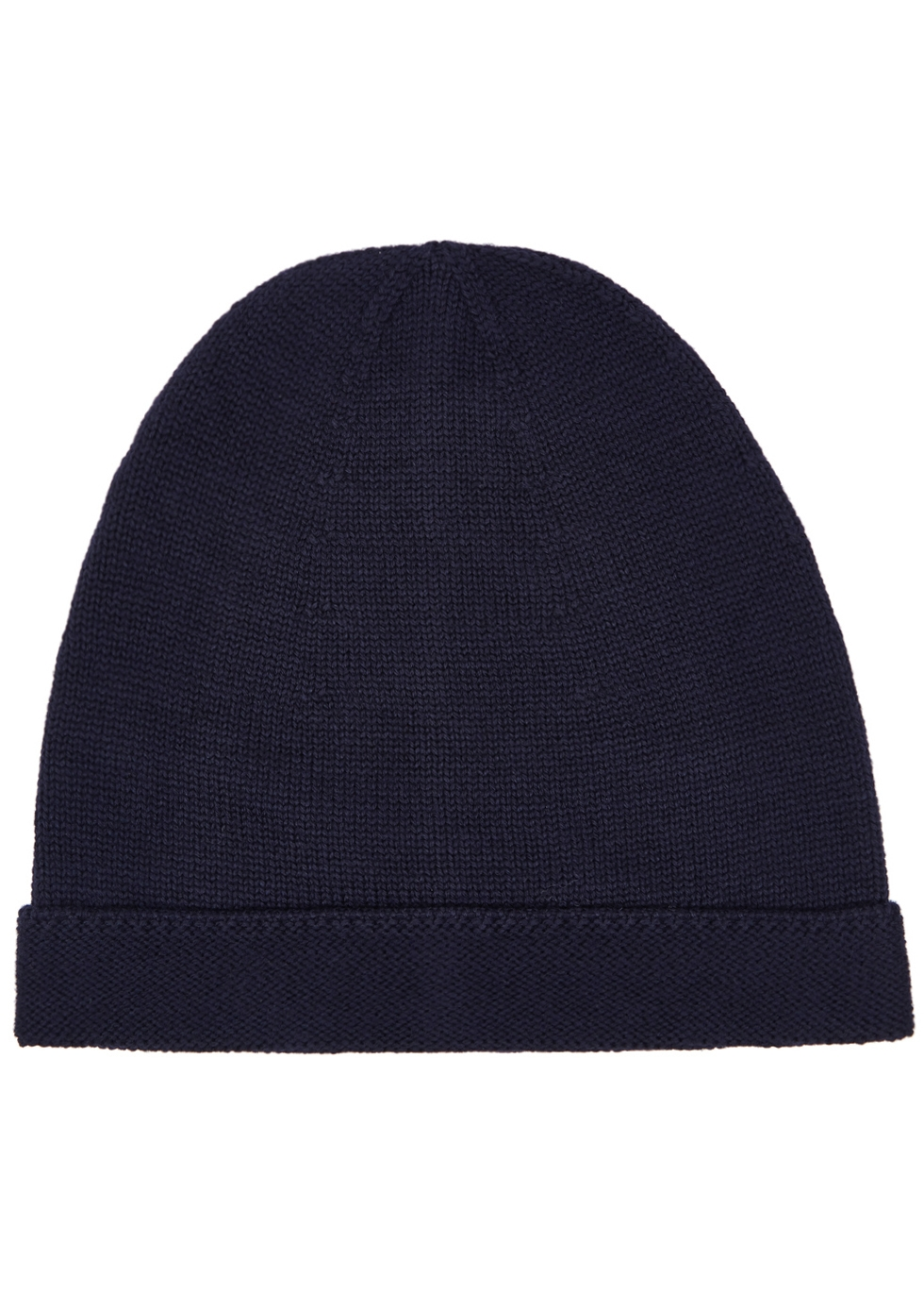 GUCCI NAVY FINE-KNIT WOOL BEANIE