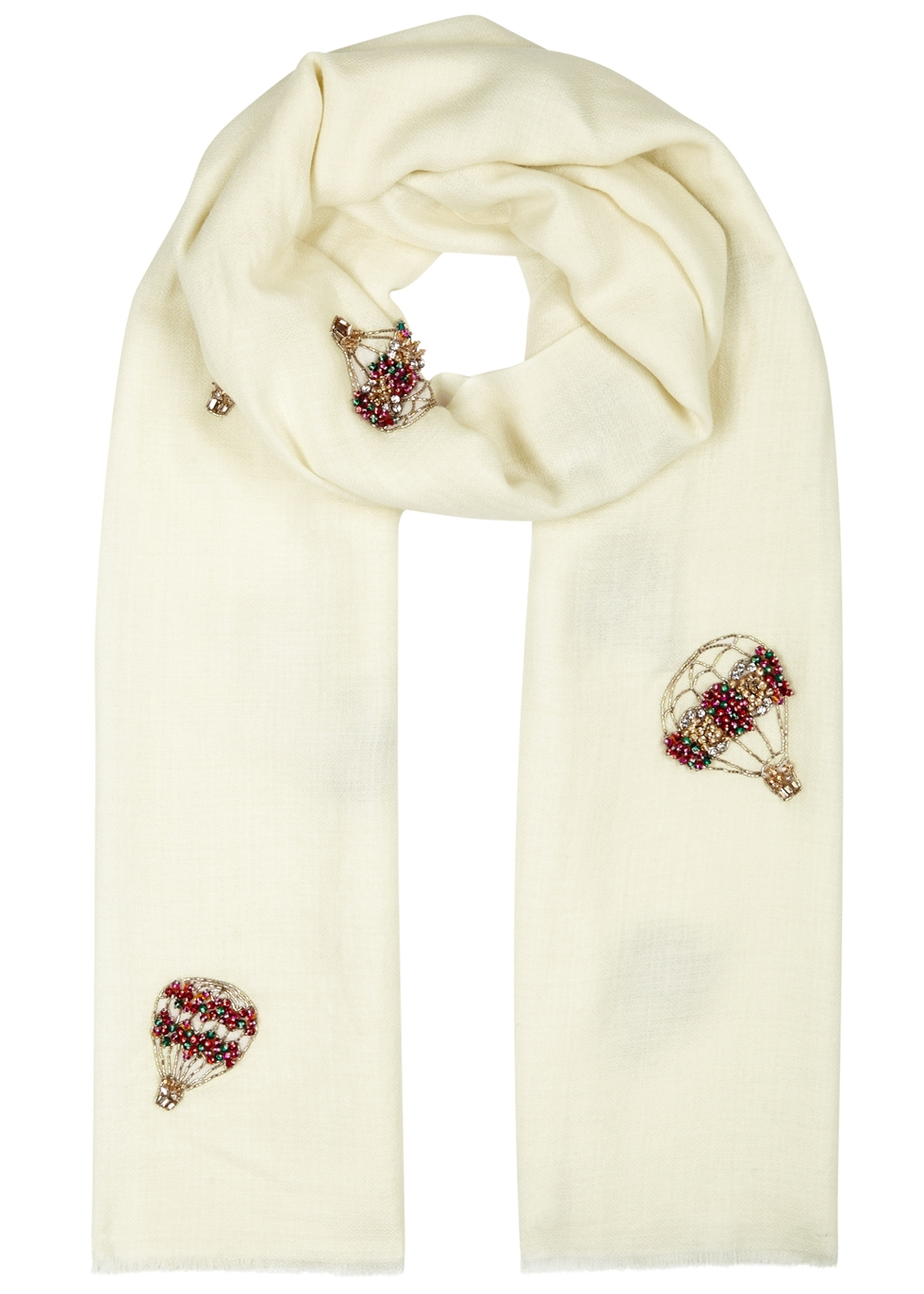JANAVI JEWELLED HOT AIR BALLOONS CASHMERE SCARF