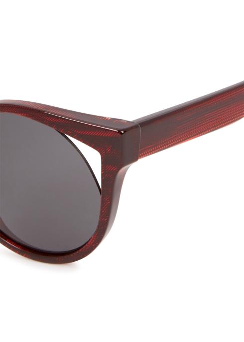 eb4d5a85c8 ALAIN MIKLI Rayce red cat-eye sunglasses - Harvey Nichols