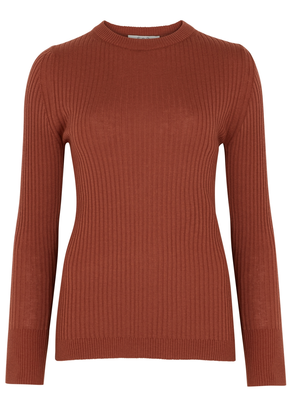 SEA NY Brielle Terracotta Wool Jumper