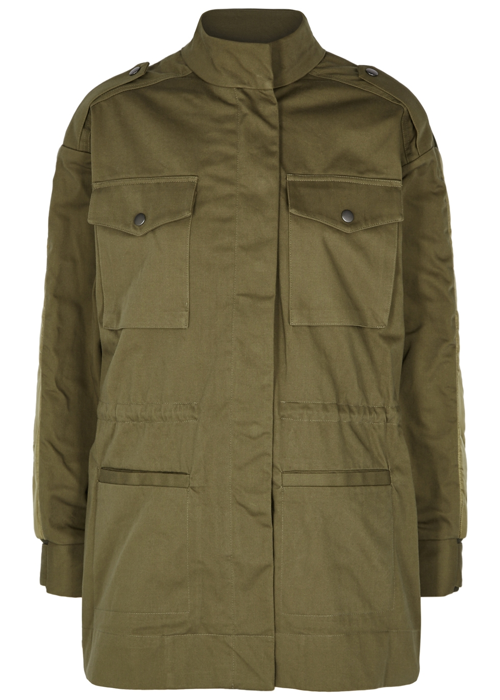 SEA NY Zamara Quilted Cotton Jacket in Green