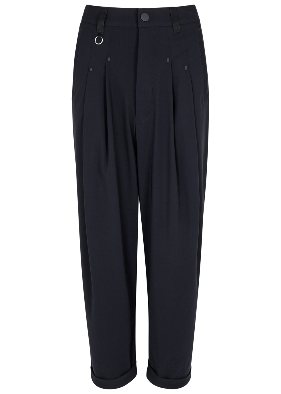 HIGH HASTEN NAVY CROPPED JERSEY TROUSERS