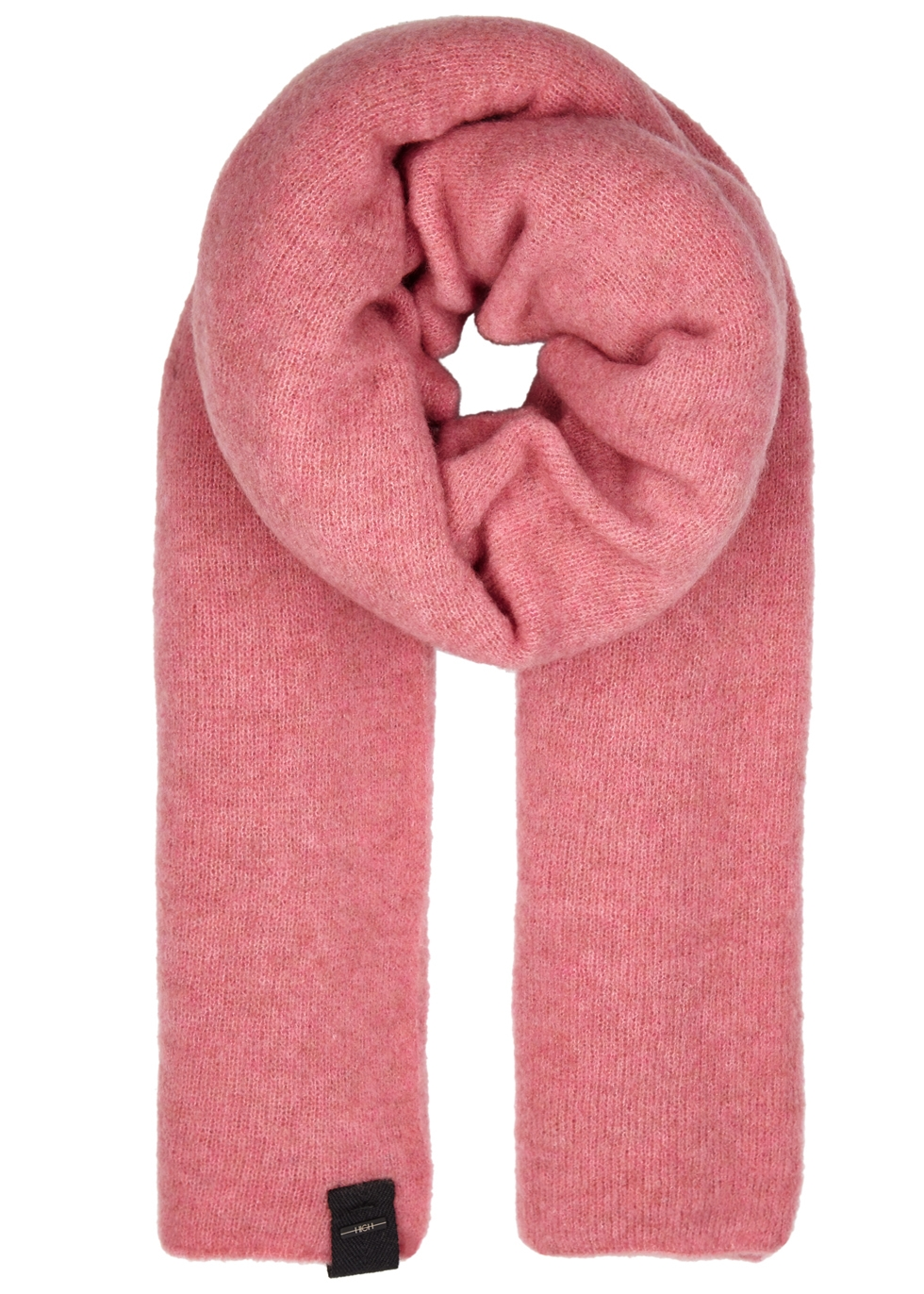 HIGH FROSTY PINK WOOL-BLEND SCARF