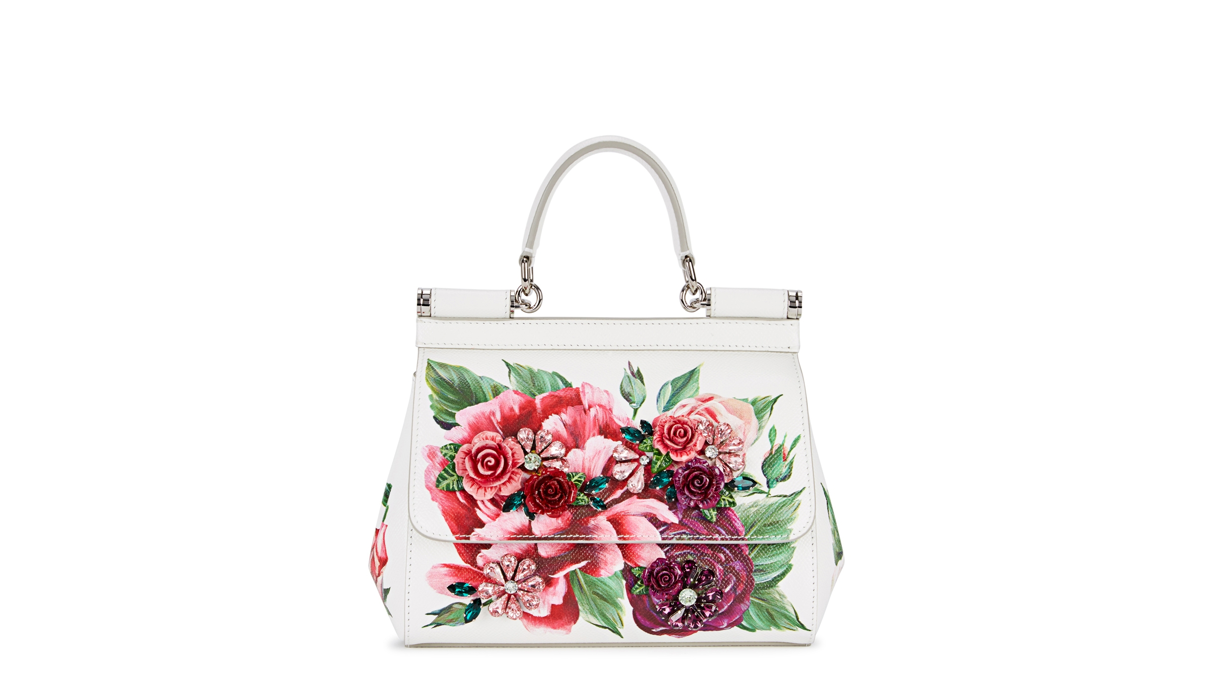 Dolce   Gabbana Sicily small floral-print leather tote - Harvey Nichols 7b50004a7c