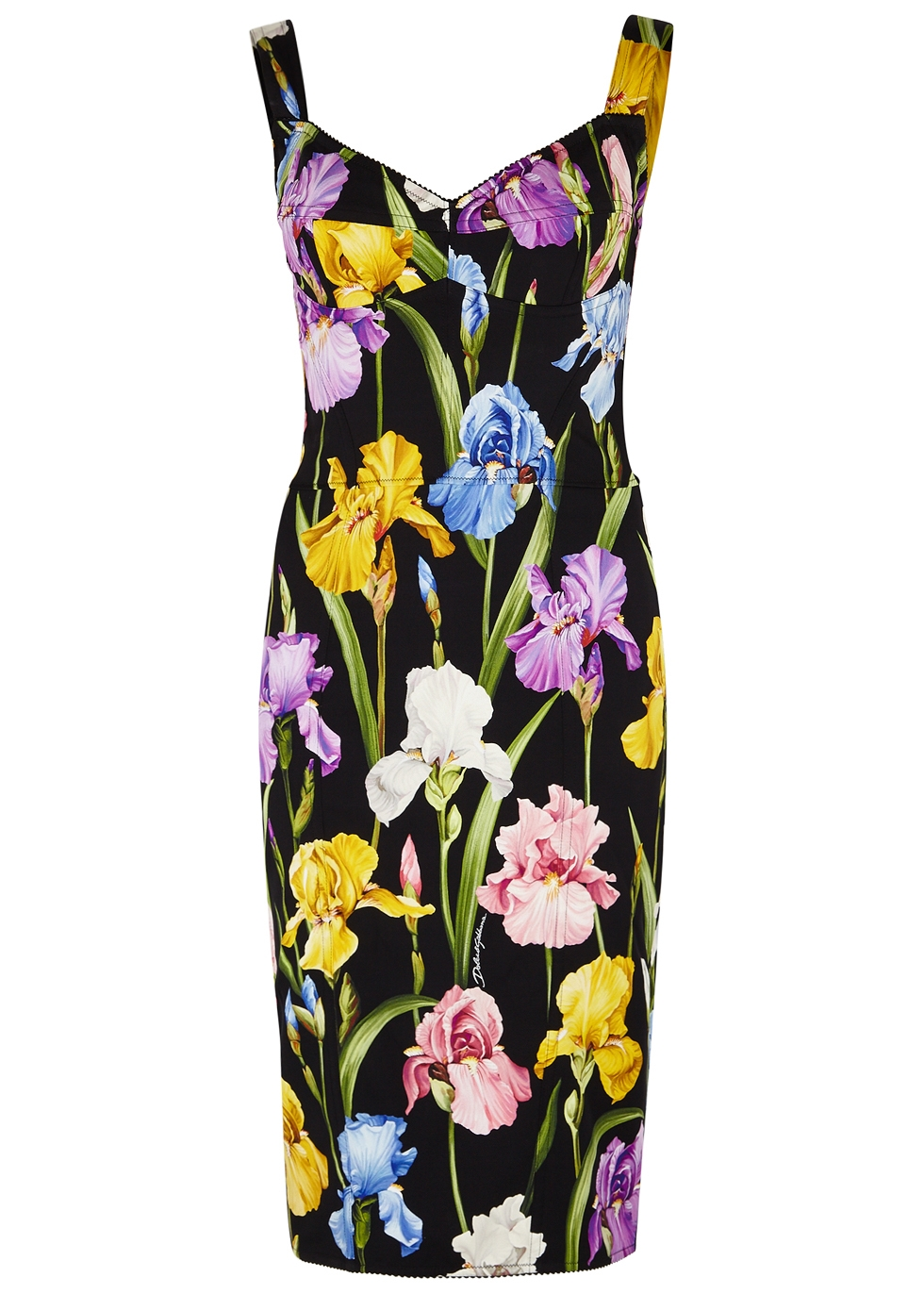 FLORAL-PRINT SILK-BLEND DRESS