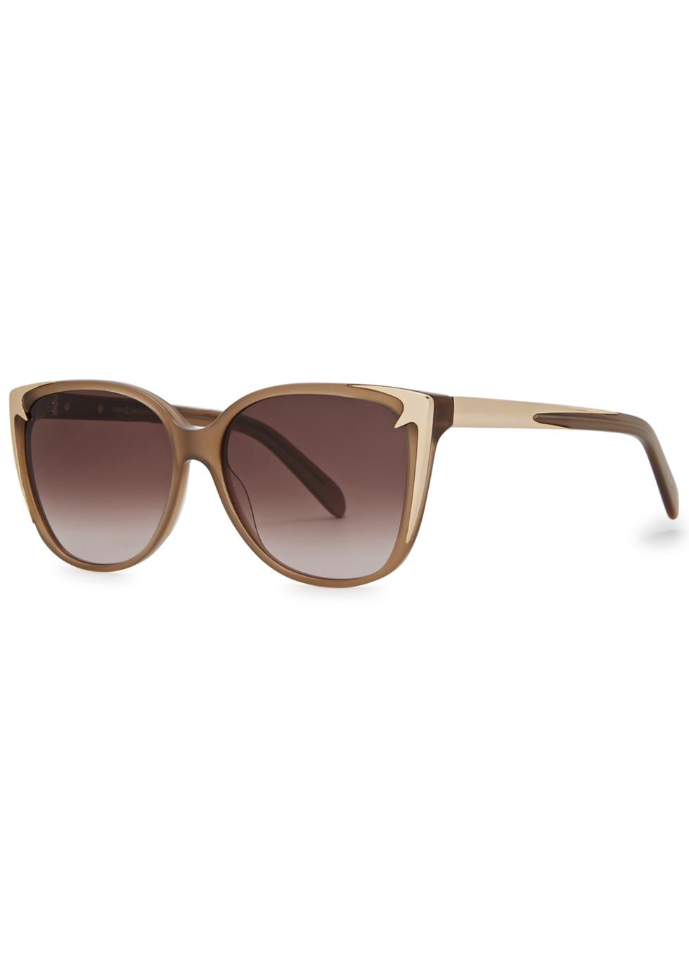 PARED EYEWEAR X Staerk & Christensen Oval-Frame Sunglasses in Brown