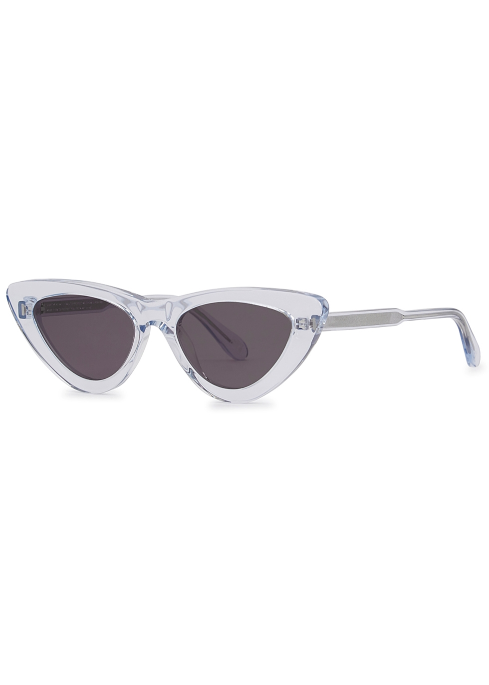 CHIMI 006 Transparent Blue Cat-Eye Sunglasses in Crystal