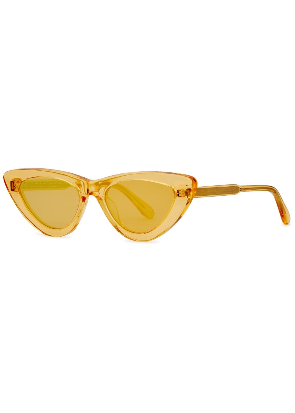 CHIMI 006 Yellow Cat-Eye Sunglasses