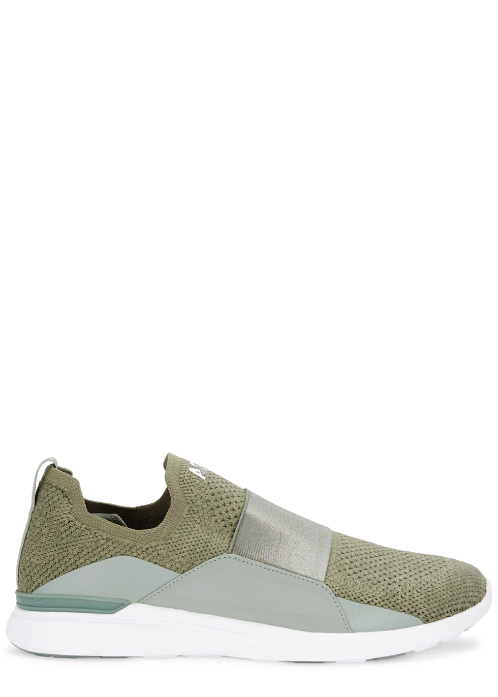 APL ATHLETIC PROPULSION LABS TECHLOOM BLISS ARMY GREEN KNITTED TRAINERS