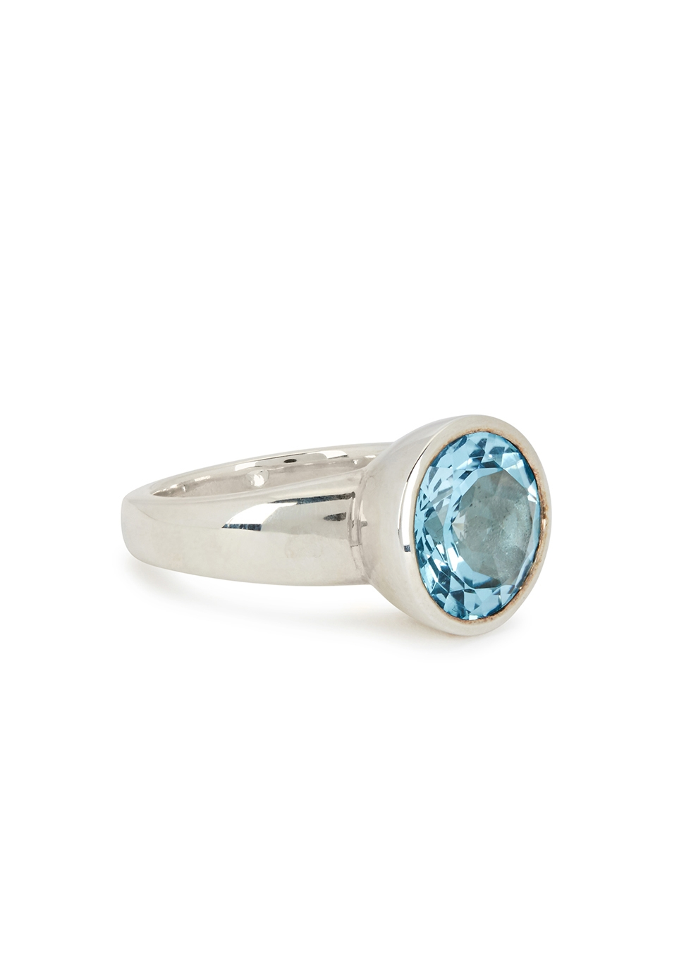 MUSE STUDIO Blue Topaz Sterling Silver Ring