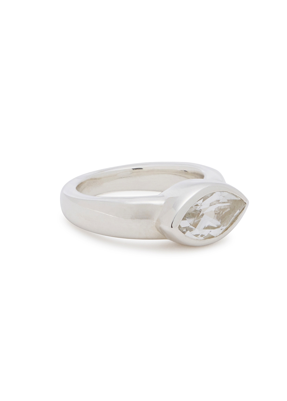 MUSE STUDIO Sterling Silver Topaz Ring in Crystal