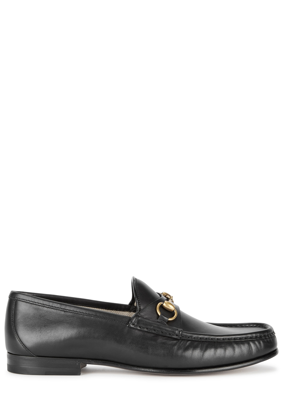 GUCCI 1953 BLACK HORSEBIT LEATHER LOAFERS