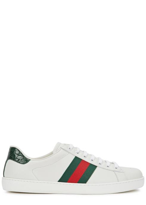 890e86b1f Gucci New Ace white leather trainers - Harvey Nichols