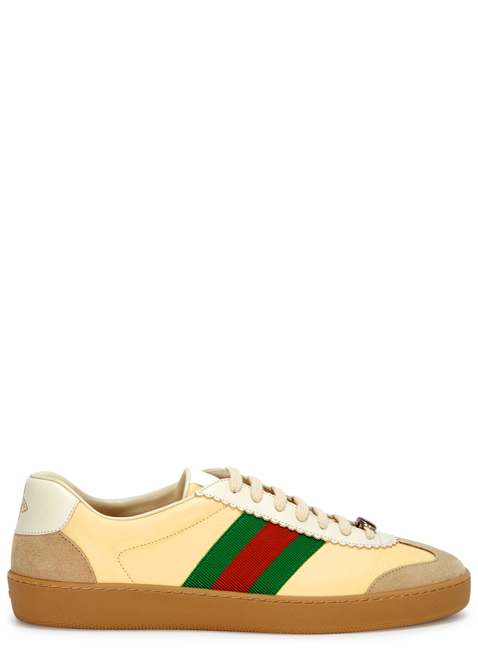 GUCCI YELLOW LEATHER TRAINERS