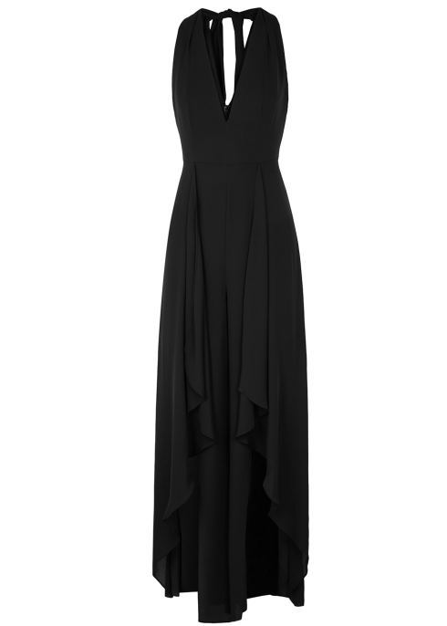 add302ebdc8 Halston Heritage Black draped jumpsuit - Harvey Nichols