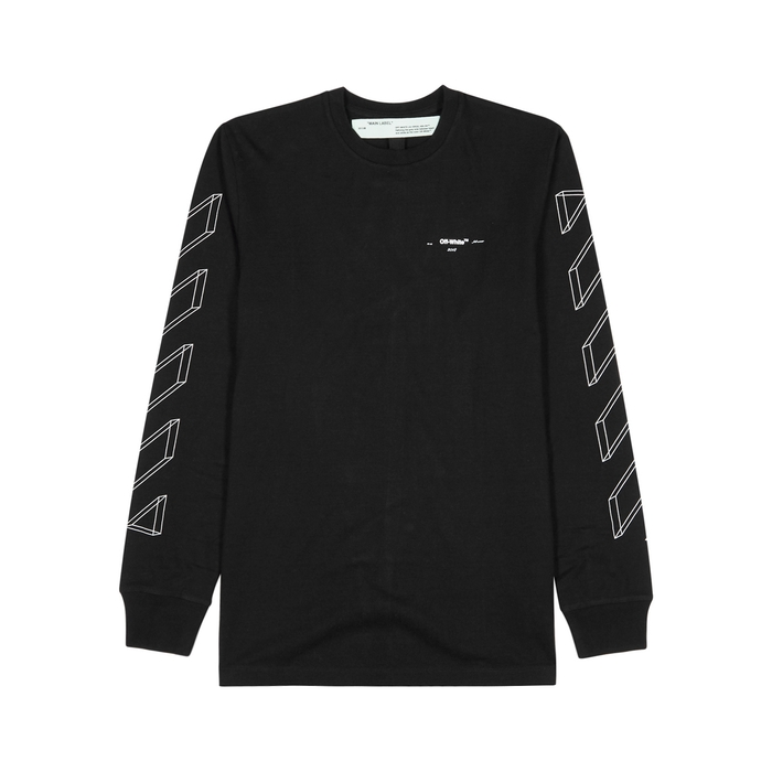 Off-White 3D Line Printed Cotton Top