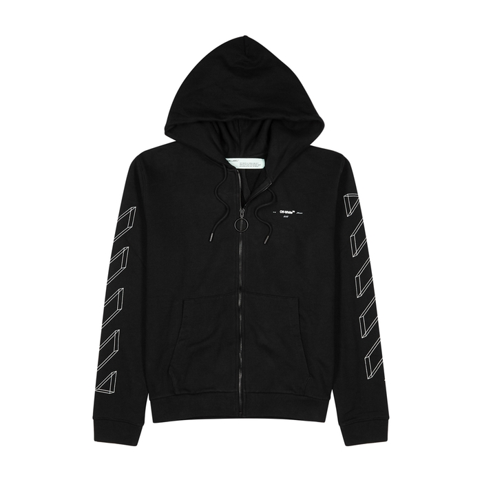 Off-White 3D Line Hooded Cotton Sweatshirt