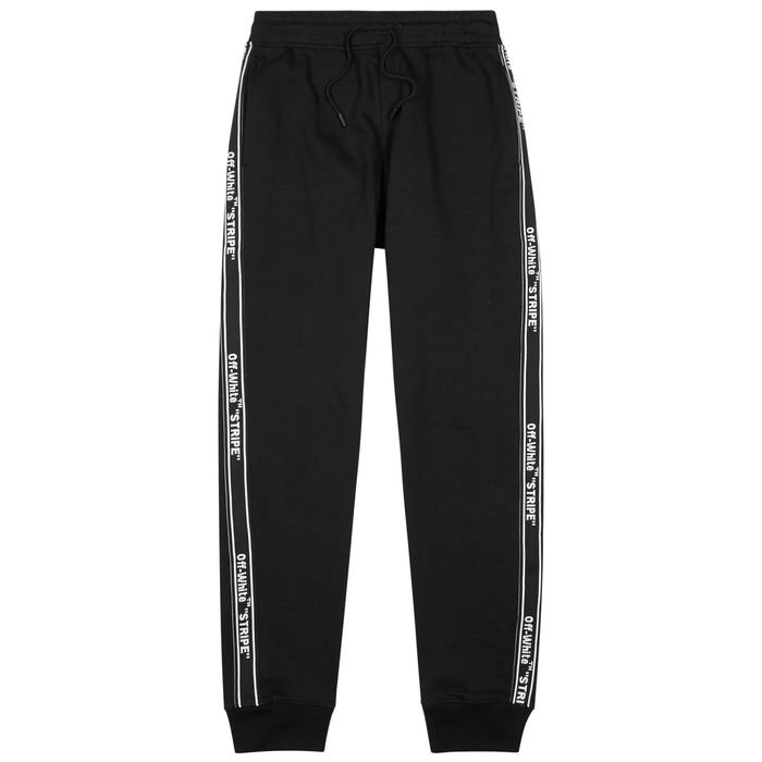 Off-White Logo-embroidered Cotton Jogging Trousers