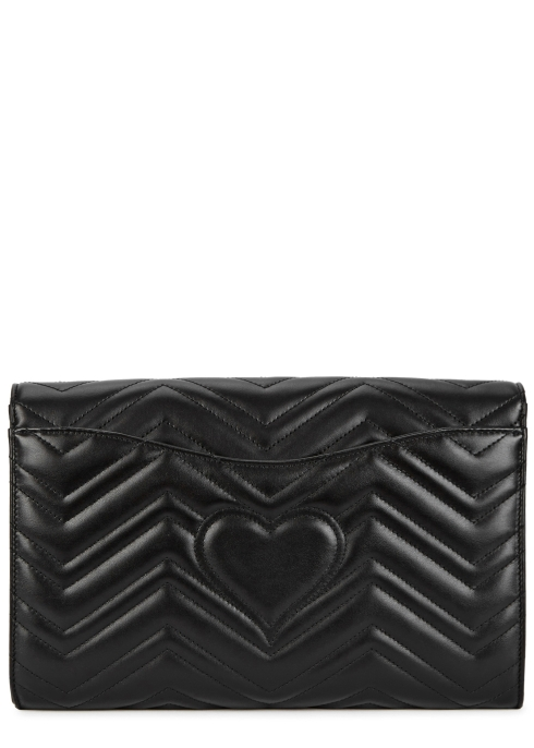 Gucci GG Marmont black leather clutch - Harvey Nichols 05da6bb64e62c