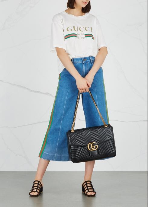 87d054e33d62 Gucci GG Marmont large leather shoulder bag - Harvey Nichols