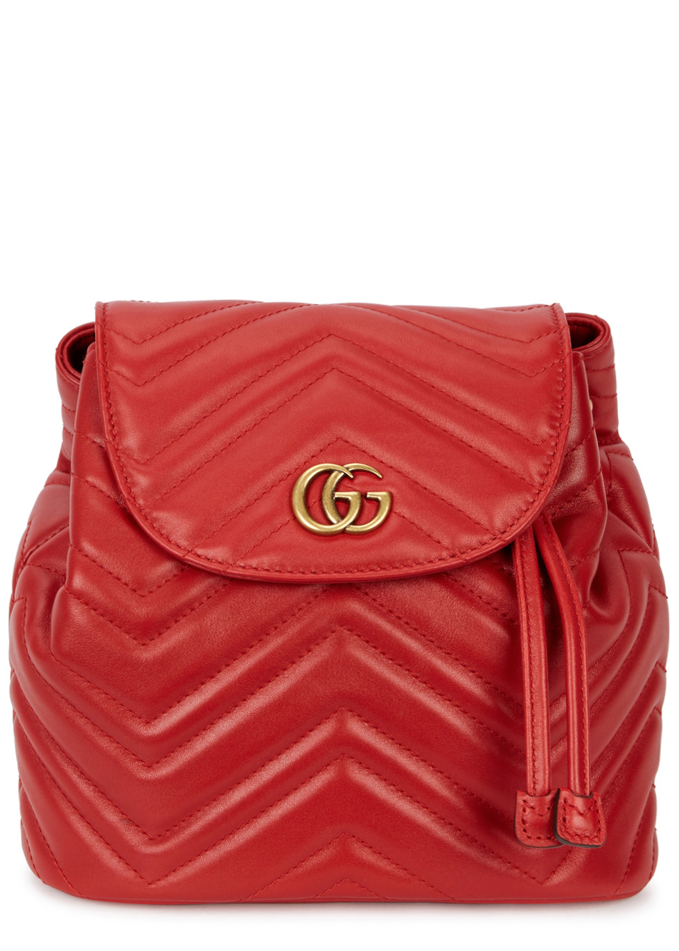 GG MARMONT RED LEATHER BACKPACK