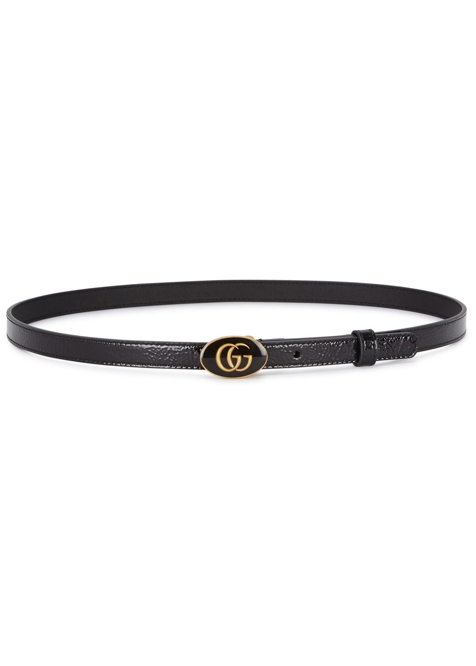 GG BLACK PATENT LEATHER BELT