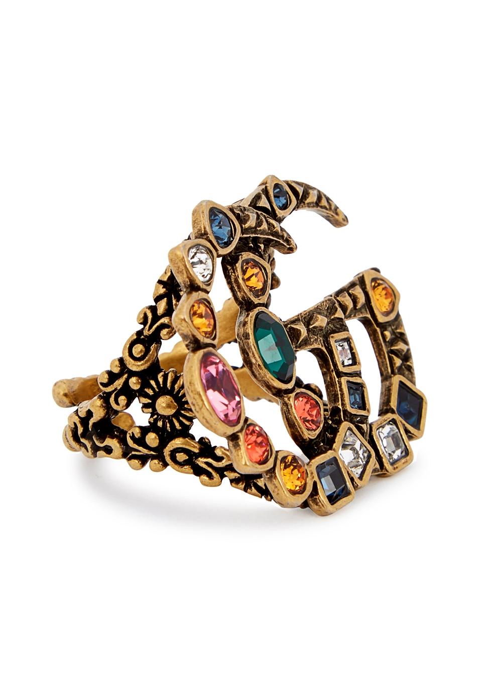 Gucci GG crystal embellished ring - Multicolour OtJVkxWrG