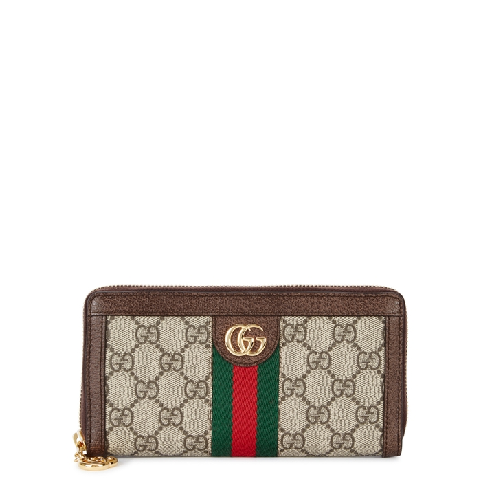 e7c31523df7 Gucci Ophidia Gg Supreme Canvas Wallet In 8745 Beige